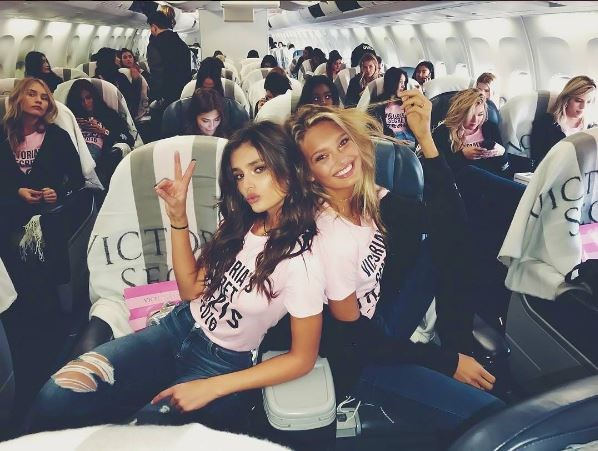 Taylor Hill and Romee Strijd are ready for lift off.