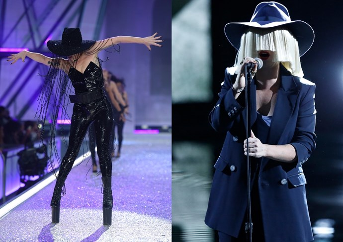 """**14. Sia** Gaga's like """"stop calling, stop calling, I don't wanna talk anymore"""" and Sia's thinking """"K but I want my hat back."""""""