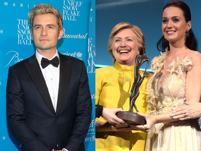 Katy Perry Hillary Clinton Orlando Bloom