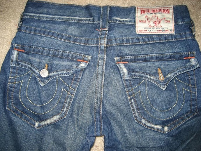 **Premium denim with fancy butt pockets**  You know you remember walking around the mall being able to tell where a girl got her jeans solely based on the butt-pocket design. It was sexy because it was like bedazzling your booty. How fun!