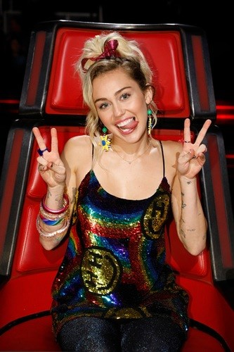Miley just finished filming her first ever season of *The Voice* back in the US and was a total hit.