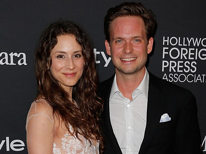 Troian Bellisario and Patrick J. Adams' wedding