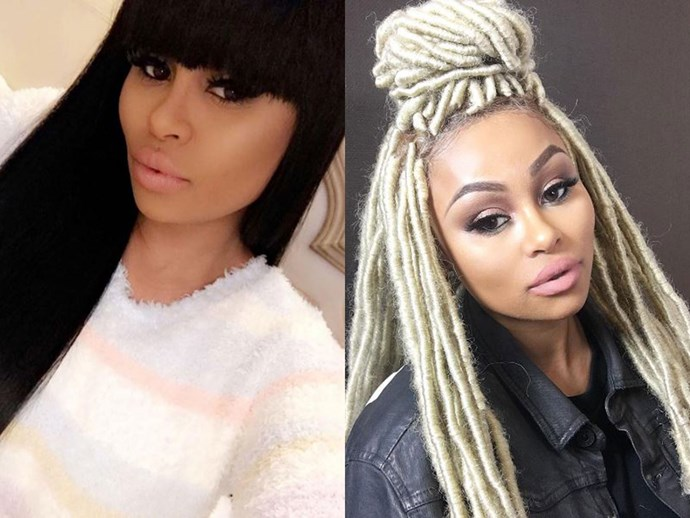 Apparently, Black Chyna was *so* sick of her long black mermaid hair, she went for something completely different: blonde dreadlocks.