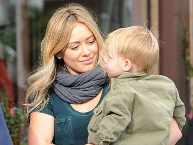 Hilary Duff has come under fire for kissing her son on the lips