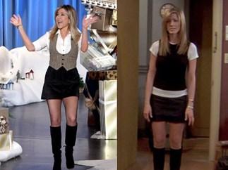 Jennifer Aniston dressing like Rachel Green