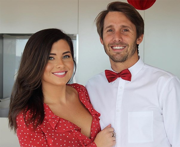 NOW: She was roomies with Sam Frost for a time, briefly dated Dave the plumber from Sam's season, and now she's dating this guy. His name is Daniel Small, and if you recognise him because you're an Aussie reality TV addict, it's because he was SAXON ON *BIG BROTHER*.