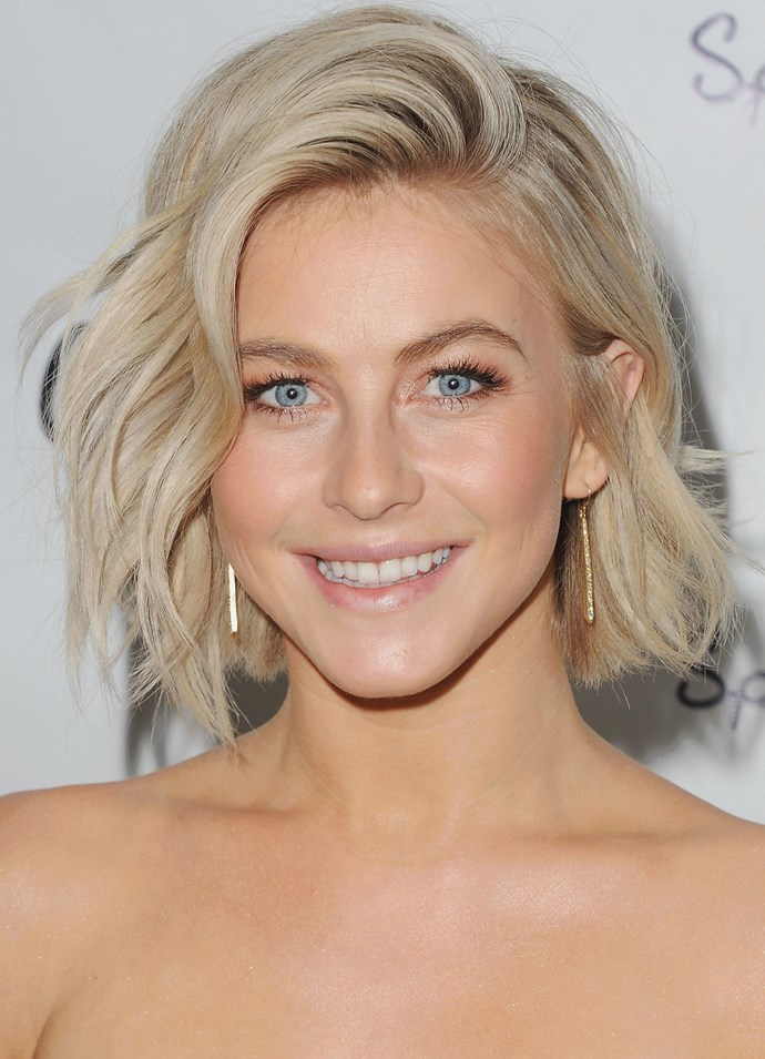**ASHY PLATINUM**   Julianne Hough always manages to give us hair envy with her ashy blonde bob.