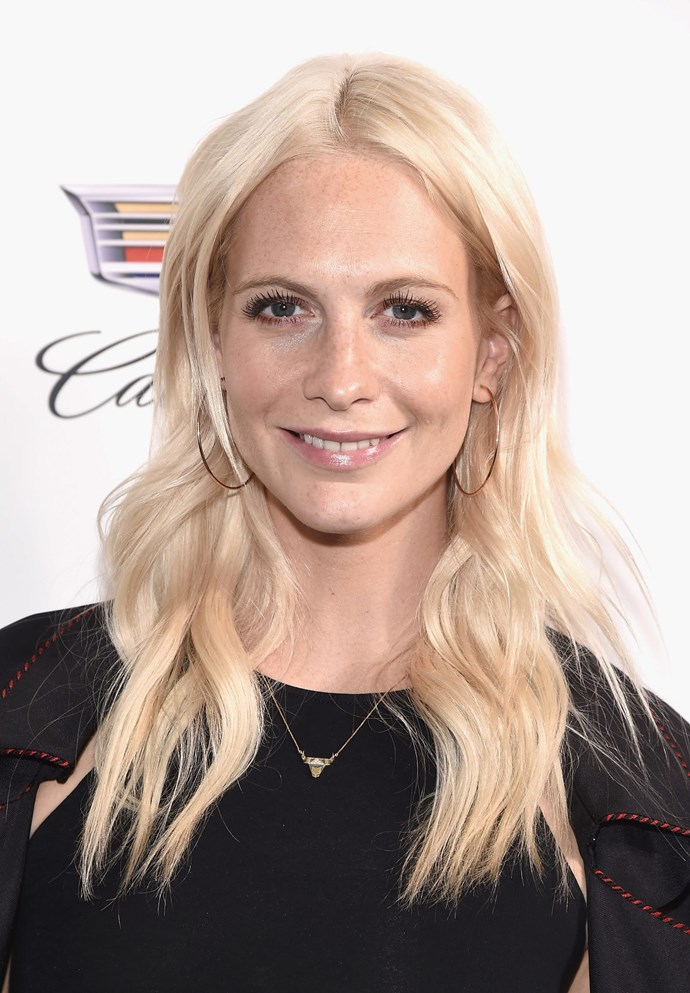 **CREAMY BLONDE**   Poppy Delevingne's creamy blonde locks are giving off major scandi vibes.