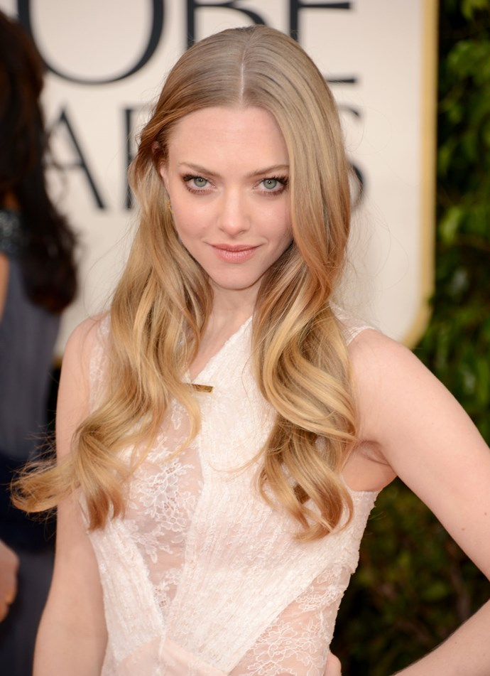 **NATURAL BLONDE**   Amanda Seyfried shows how you can brighten up your naturally blonde hair with a subtle balayage through the mid-lengths to ends.