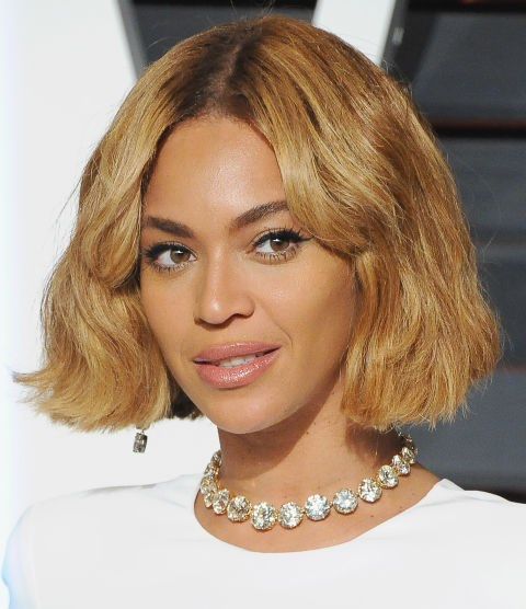 **RICH-CARAMEL BLONDE**   Beyonce's caramel crop is still one of our fave Queen B hair moments.