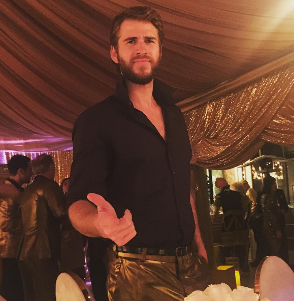 "The BEST. Miley captioned this shot of her fiance: ""Sorry. My dude is HOT."" Yes. Yes, he is."