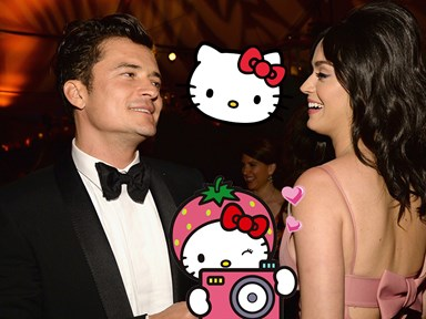 Katy Perry made Orlando Bloom her personal photographer at Hello Kitty World