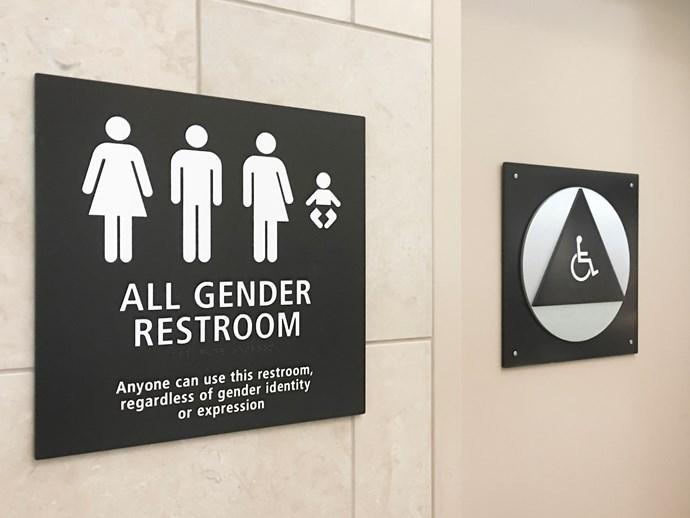 Multi Gender Restroom Sign