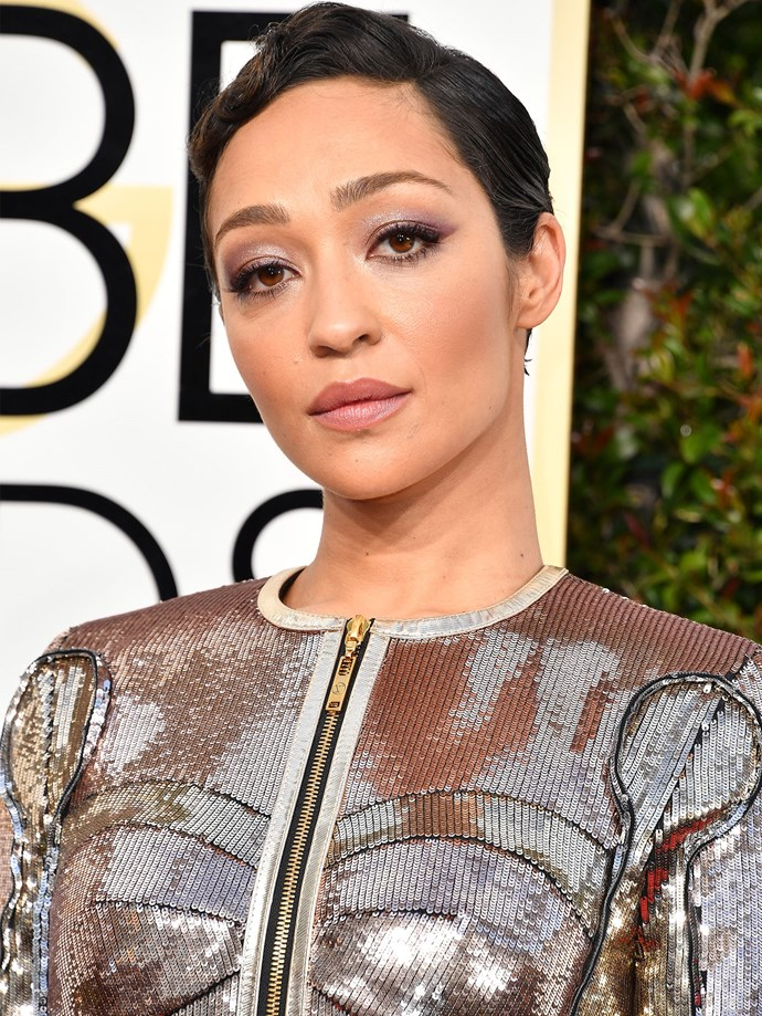 It looks like Ruth Negga was channeling the 1920's with these finger waves.