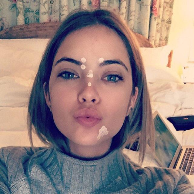 **Ashley Benson:** When she shared this zit mask selfie on Insta.