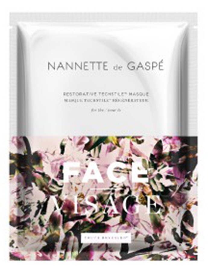 """In the meantime, this is another amaze dry sheet mask to try.  [Nanette de Gaspe Waterless Masque, $120](https://www.nannettedegaspe.com/us/face-masque.html