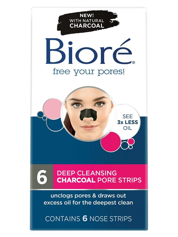 "[Bioré Deep Cleansing Charcoal Pore Strips, $7.34](https://www.biore.com.au/breakup-with-blackheads/charcoal-pore-strips#regular|target=""_blank""|rel=""nofollow"")"