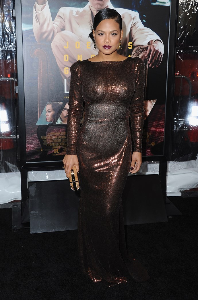 So Christina Milan steps out at the 'Live By Night' premiere in a floor-length sequin gown but ain't nobody talking about the dress. Why? 'cause it's sheer AF, showing both her nips and shapewear to the world. Granted, while this is almost definitely *not* the look Christina was going for, we can all agree she's got a FIERCE bod - how's that for a silver lining?