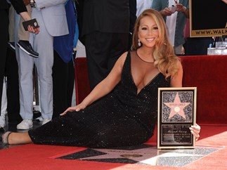 Some heartless soul has vandalised Mariah Carey's star on the Hollywood Walk of Fame