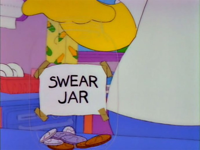 The Simpsons Swear Jar
