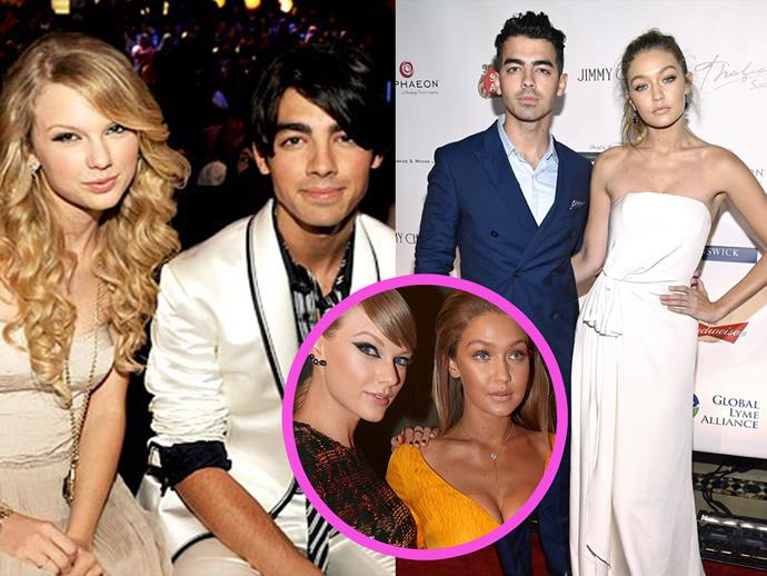 Back in 2008 Taylor Swift dated Joe Jonas. Seven years later and her close, personal friend (and #squadmember) Gigi Hadid dated him.