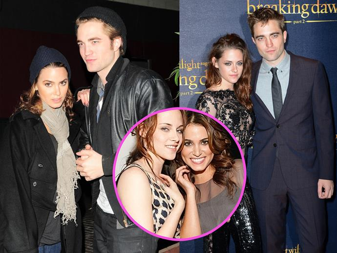 During the making of *Twilight* Nikki Reed and Robert Pattinson started dating. Halfway through filming, they broke up and his epic love affair with Kristen Stewart began. Oh and Nikki seemed totally cool about the entire thing.