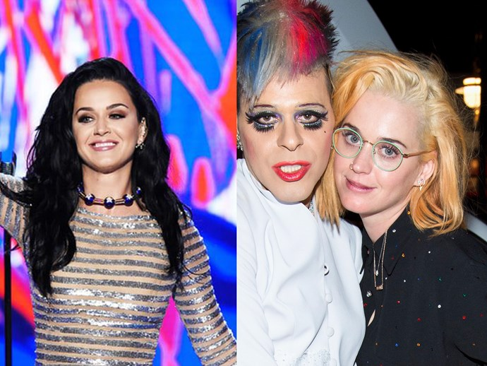 Best girlfriend ever, Katy Perry, threw Orlando Bloom a surprise birthday bash over the weekend and kept the surprises coming by stepping out on the night with a new ginger lob and woah. Girl's on fire. Literally.