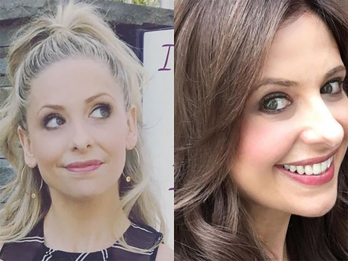 **Sarah Michelle Gellar.** In THE BEST NEWS EVER, the actress dyed her blonde locks dark last year to resume her role of Marcia f@cking Brady of the Upper East Side in the TV reboot of *Cruel Intentions*. YAS.