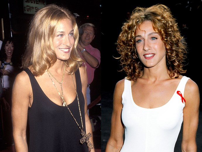 **Sarah Jessica Parker.** Before Carrie came along, SJP was quite the style chameleon herself. She rocked up to the '93 MTV Movie Awards with copper curls like it was NBD. And *that's* how you make an impression. BOOM.