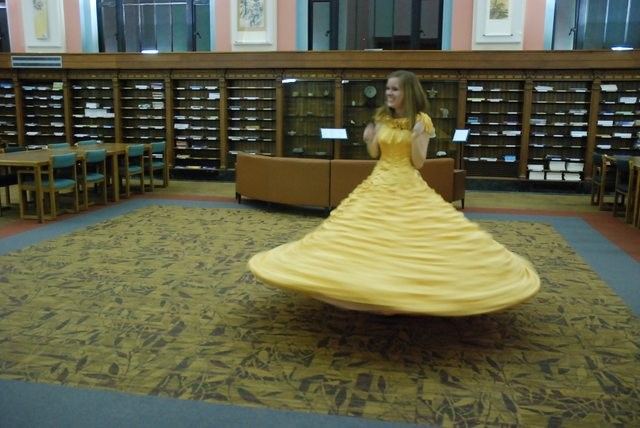Then came the obligatory twirl...