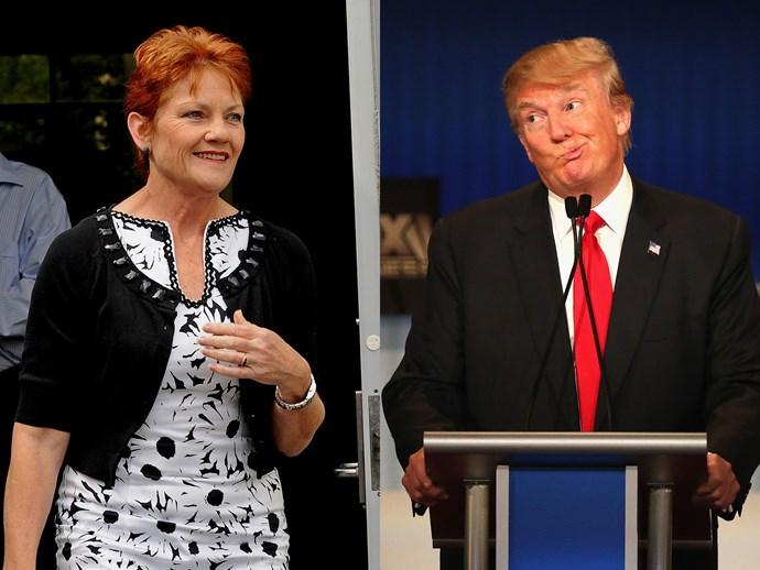 Pauline Hanson Donald Trump