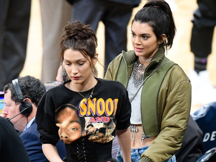 Bella Hadid and Kendall Jenner were swarmed on the street in New York