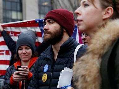16 male celebrities who turned up to support the Women's Marches