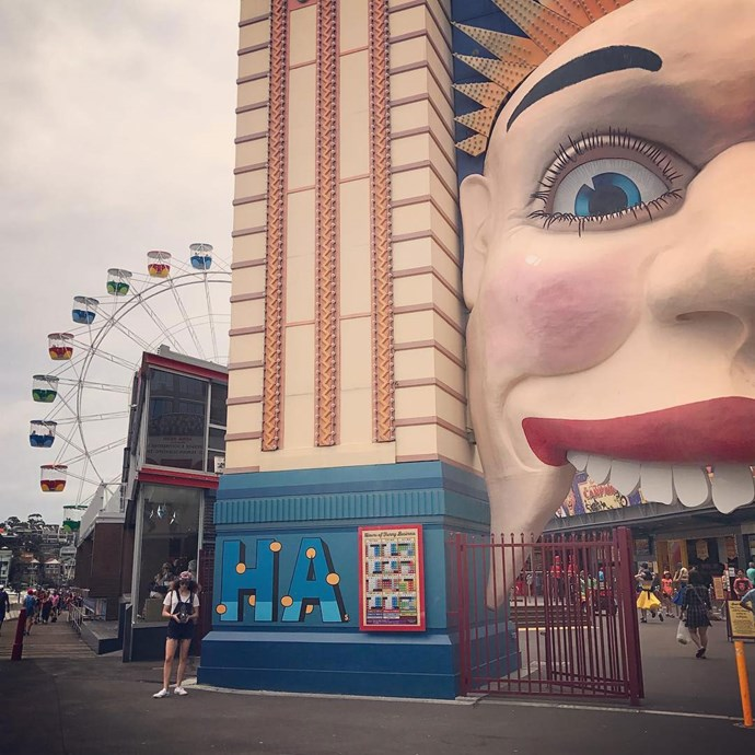They hit up Luna Park, because of course.