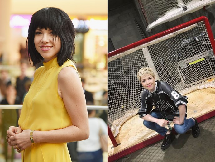 She's gone blonde! *Call Me Maybe* singer Carly Rae Jepsen did a complete 360 and dyed her black hair peroxide blonde.