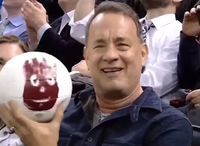 **Cast Away**  Not your average reunion but still very important. Tom Hanks was reunited with Wilson the volleyball at a New York Rangers game in 2015. Ah-mazing.