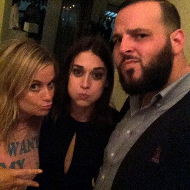 **Mean Girls**  Amy Poehler (Mrs. George), Lizzy Caplan (Janis Ian) and Daniel Franzese (Damian) linked up for this amazing shot.