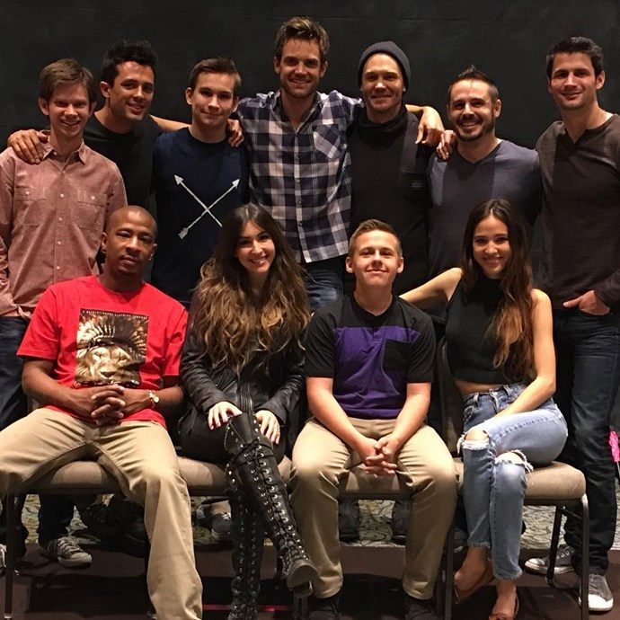 **One Tree Hill**  Tyler Hilton shared this amazing reunion shot featuring Chad Michael Murray, James Lafferty, Stephen Colletti and more of our *OTH* faves.