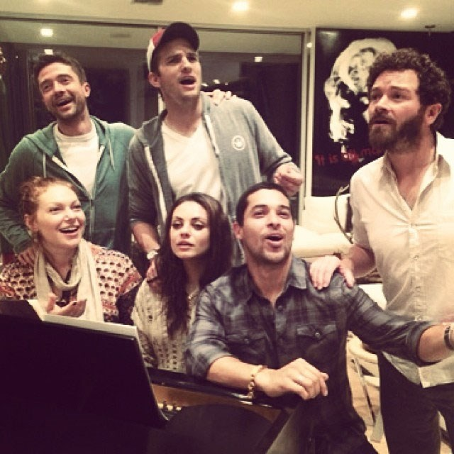 **That '70s Show**  The original six from the long-running show got together for what looks like a sing-along