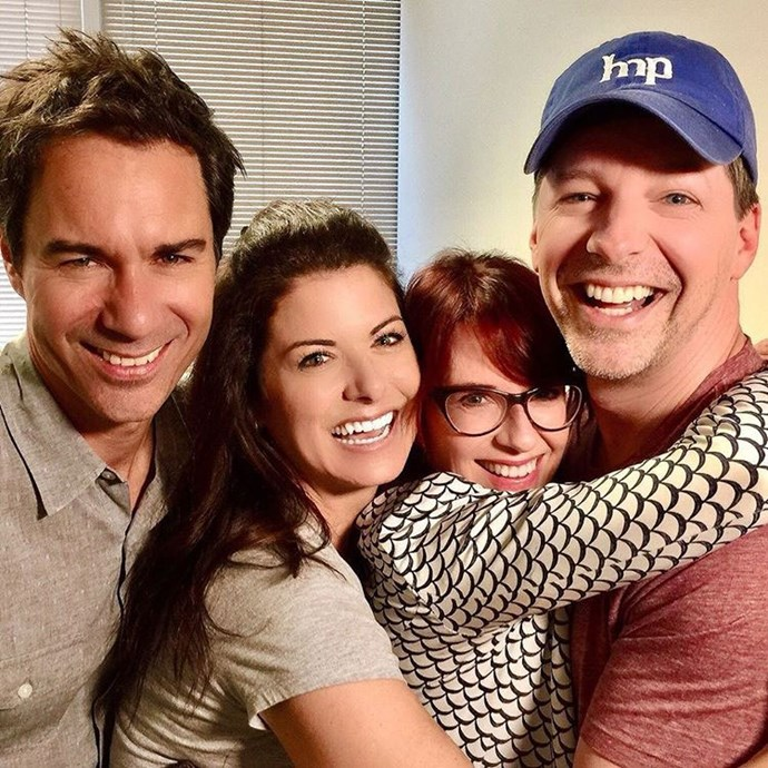 **Will and Grace**  This was the ULTIMATE *Will and Grace* reunion, shared on Instagram by Debra Messing.