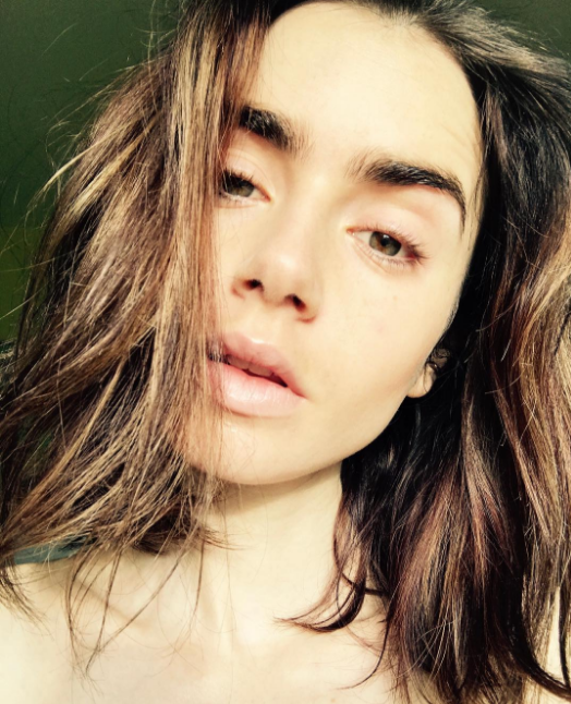 "The gorgeous Lily Colins shared a makeup-free Instagram selfie, captioned: ""Fresh skin, makeup free. Let the evening begin"". Annnnd it's official, even w/o makeup her brows are on freaking point. Flawless."