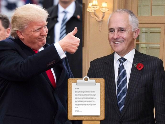 Donald Trump Malcolm Turnbull