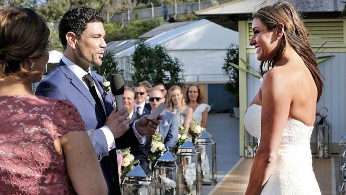 Andrew and (runaway bride) Lauren.
