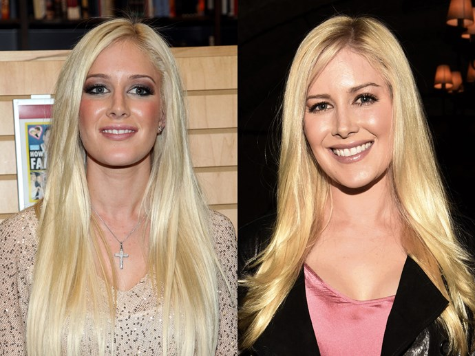 Heidi Montag circa 2009 was all about loads of lashes, all of the blush and platinum blonde hair extensions for days. Nowadays, however, she's swapped the icy blonde for something a little warmer, swapped the blue-toned eye shadow for taupe and found the perfect nude lip colour.