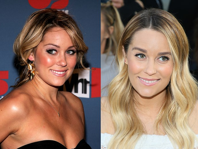 To be fair, we *all* looked like Lauren Conrad in 2003, no? Fast forward 14 years and she's ditched the Maui Babe, the tweezers, the blush and the heavy under-eye liner, only to look more baben than ever.