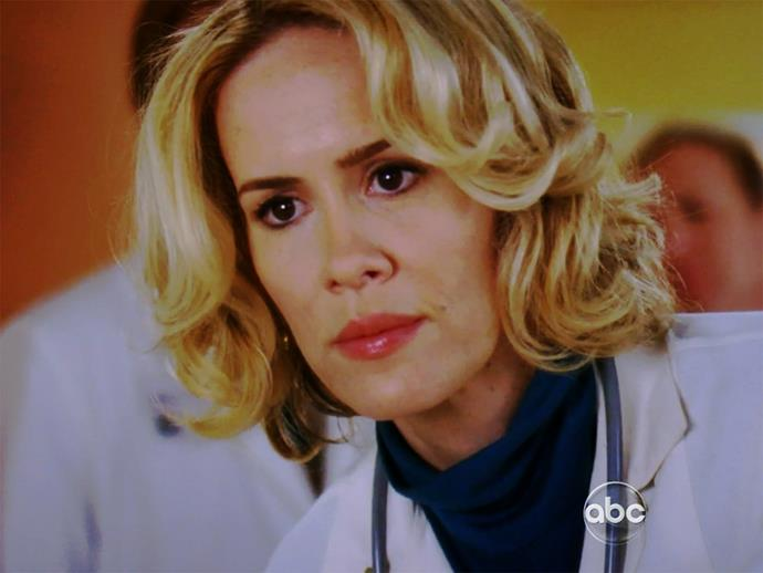 **Sarah Paulson.** She might be a big name actor now but back in season six, Sarah moonlighted as Meredith's mother, Ellis Grey, in a '70s flashback.