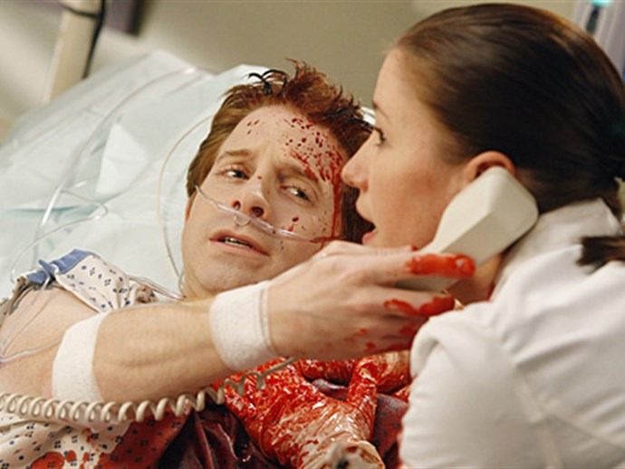 **Seth Green.** In a short but bloody episode, Seth Green played a young man with a fragile carotid artery.