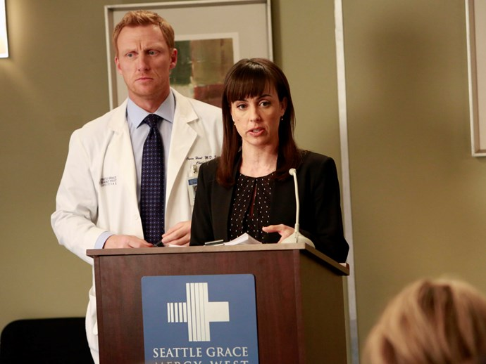 **Constance Zimmer.** Before *UnREAL* and *House of Cards*, Constance played Alana Carhill, a physician adviser who is brought in to help the hospital when it is going bankrupt.