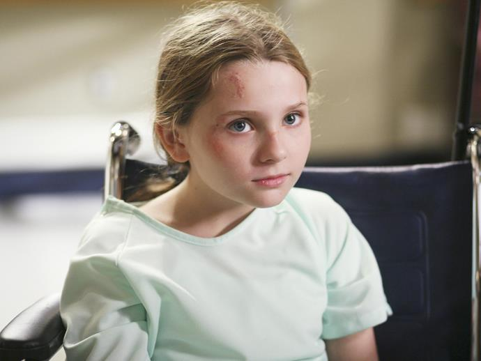 **Abigail Breslin.** In a very un-*Little Miss Sunshine* role, Abigail played a young girl who couldn't feel pain... and therefore beat herself up a lot.