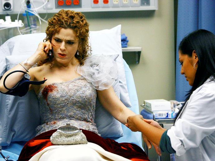 **Bernadette Peters.** Bernadette Peters appeared in season five as Sarabeth Breyers, a patient who finds out her husband cheated on her with her best friend.